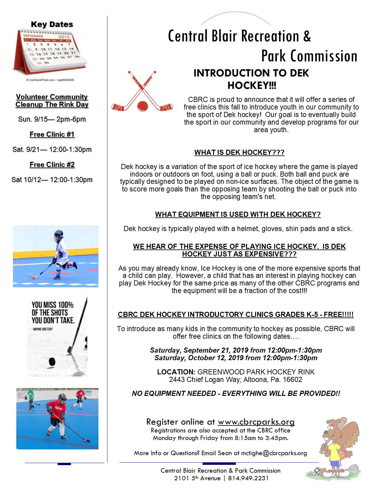 dek-hockey-free-clinics